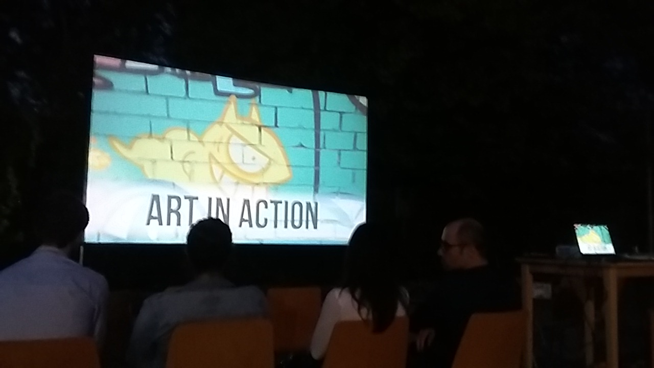 Art4Act Open Air Cinema at Luisenviertel Cologne
